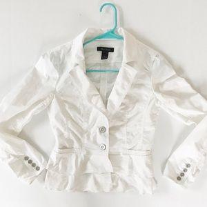 White House black market ruffle blazer jacket
